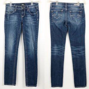Express Distressed Rerock Skinny Jeans